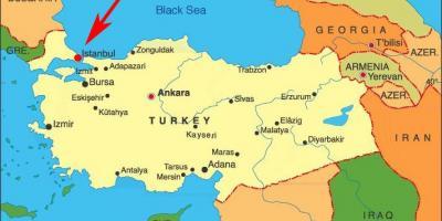 Istanbul Konstantinopol Mapa Mapy Istanbulu Konstantinopoli